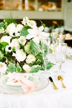 lush centerpiece // photo by White Loft Studio // styling by Valentine // flowers by Petal Floral Design // view more: http://ruffledblog.com/sweet-valentine-wedding-inspiration