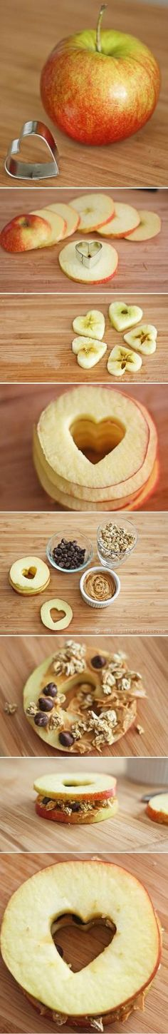 easy apple heart sandwiches. by mickichele