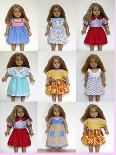 American Girl doll clothes sewing patterns to download - DRESS COLLECTION