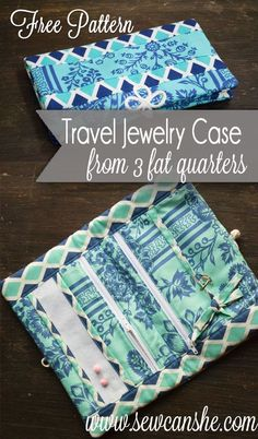 Free Pattern: Travel Jewelry Case — SewCanShe | Free Daily Sewing Tutorials