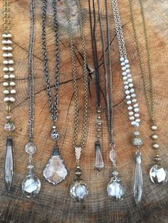 Shine, shimmer and sparkle this holiday season with gemstone and crystal necklaces. www.lisajilljewelry.etsy.com