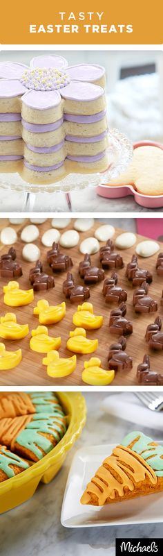 Bake up sweet treats for your Easter brunch with these fun ideas. Learn to make an easy floral layer cake or carrot scones that your guests will love. Make chocolate bunnies and chicks using silicone molds that are sure to be a hit. Get everything you need to make these tasty treats at your local Michaels store.