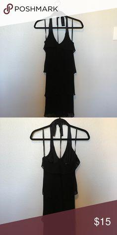 Halter LBD Halter Black Dress with zip closure and ribbon tie at the neck Jones New York Dresses