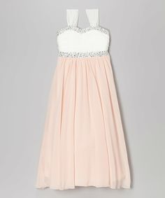 Look what I found on #zulily! Light Pink & White Sequin Maxi Dress by Speechless #zulilyfinds