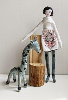 Nadya Sheremet: Young lady and her faithful giraffe: