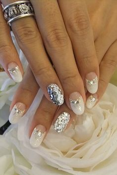 glitter nail BEAUTIFUL FOR A BRIDE