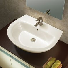 Universal Jazz 57 Porcelain Bathroom Sink with Overflow