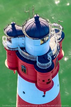 Roter Sand is a lighthouse in the North Sea, in the Weser estuary Lighthouse Lighting, Lighthouse Pictures, Candle On The Water, Sea Floor, Beacon Of Light, Water Tower, Am Meer, North Sea, Covered Bridges