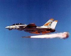 Launching AIM-54 Phoenix Missile