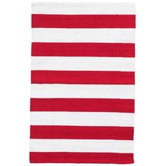 Dash and Albert Rugs Catamaran Red/White Indoor/Outdoor Area Rug Rug Size: Runner x Christmas Rugs, Red Colour Palette, Teal Rug, Dash And Albert, Braided Rugs, Sheepskin Rug, Striped Rug, Indoor Outdoor Area Rugs, White Area Rug
