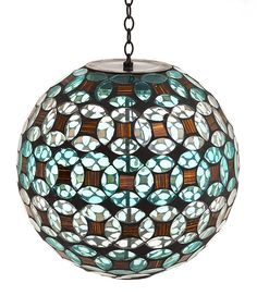 Look at this Geometric Solar Hanging Gazing Ball on #zulily today!