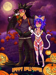 Je vous souhaite un très joyeux Halloween a vous tous ! :)  Même Gale fait Halooween :3  #Wendy