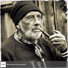 Fisherman Mariner Old Man In Sea Vintage Art Print