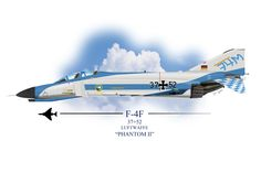 "Luftwaffe F-4F Phantom II, 37+52. Paint scheme for the 20th Anniversary of JG 74 ""Mölders"", Neuburg, 1981."