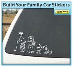 Construisez votre famille Autocollants voiture - Blanc SUV