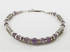 Junction Art Gallery Lavender Amethyst Necklace - Lavender amethyst stones with etched silver by Anne Farag SIZE Total length is SHIPPING The cost of shipping within the UK using Royal Mail Special Delivery is Amethyst Necklace, Amethyst Stone, Lavender, Art Gallery, Beaded Bracelets, Artists, Jewellery, Silver, Art Museum