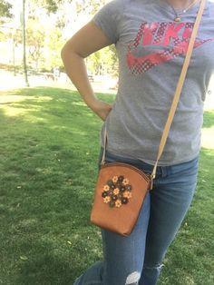 Mini cuero cruzada cuerpo de la bolsa mochila de cuero Mini
