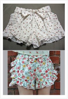 Girls ruffle edged shorts pdf sewing pattern RUFFLED SHORTS sizes 2 – 12 years – Care – Skin care , beauty ideas and skin care tips Sewing Patterns Girls, Girl Dress Patterns, Clothing Patterns, Baby Girl Patterns, Ruffle Shorts, Cute Shorts, Sewing Shorts, Kids Frocks, Little Girl Dresses