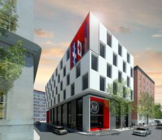 US consulate, Montreal, proposal Two - Lemay Lab architectes
