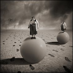Twins Sisters have a run on balloons by yves lecoq, via Flickr