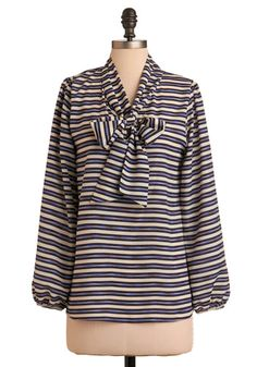 Nautical Bow Blouse - I would love this for spring/summer with high-waisted shorts and ballet flats