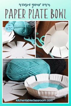 Practice basic weaving skills while making a paper plate bowl weaving. Practice basic weaving skills while making a paper plate bowl weaving. Diy Arts And Crafts, Diy Crafts For Kids, Fun Crafts, Art And Craft, Creative Crafts, Paper Bowls, Paper Plates, Paper Weaving, Weaving Yarn