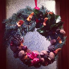 #winter #wreath #frontdoor #decoration
