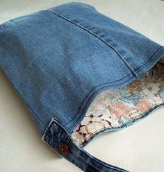 old jean bag