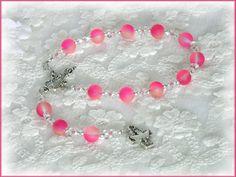 Damen Rosenkranz fürs Auto, Pink,Führerschein  von Alpen-Juwel auf DaWanda.com