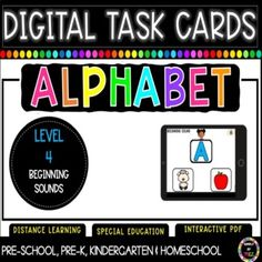 Students will love using these easy to use and interactive digital task cards. Can be used in school or for distance learning activities at home! Toddler Gross Motor Activities, Fun Activities For Toddlers, Alphabet Activities, Kindergarten Activities, Learning Resources, Fun Learning, Letter Recognition, Letter Tracing, Alphabet Coloring Pages
