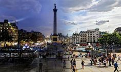 Day to night. London Attractions, Trafalgar Square, Day For Night, Westminster, Big Ben, Paris Skyline, Fountain, Street View, City