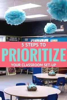 5 steps to prioritize your back to school classroom set-up process. Simplify your system and save time and money! Kindergarten Classroom Decor, Classroom Layout, First Grade Classroom, New Classroom, Classroom Setting, Primary Classroom, Classroom Organization, Classroom Ideas, Classroom Management