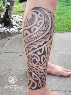 Tattoo maori na perna - Foto #3266 - Mundo das Tatuagens