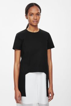 Top with cut-out hem