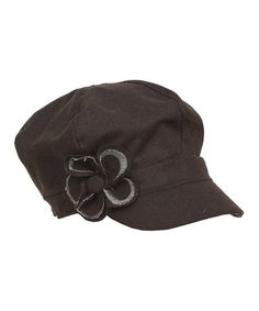 Take a look at this Brown Floral Newsboy Hat on zulily today!