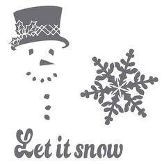 Let It Snow on 6x6 laser cut stencil por PearlDesignStudio en Etsy