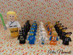 Vela Luke Skywalker e bonecos Lego Movie, modelados em biscuit