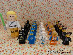 Vela Luke Skywalker e bonecos Lego Movie, modelados em biscuit
