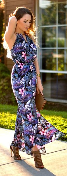 Floral Maxi Dress by Hapa Time