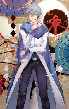 Vocaloid Kaito, Kaito Shion, Blue Hair Anime Boy, Anime Child, Bishounen, Anime Characters, Horror, Geek Stuff, Fan Art