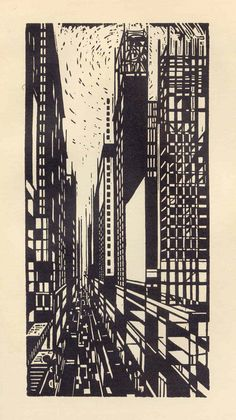 "From the series ""America in the Woodcut"" by Max Thalmann"