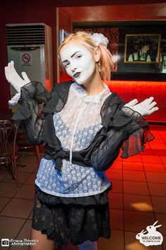 Mime Makeup, Clowns, Female, Halloween, Lady, Spooky Halloween