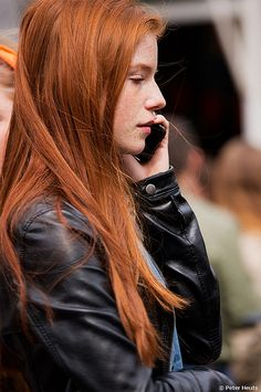 Lovely long red hair, perfectly straight!