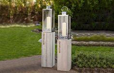Das Windlichter-Set von WITTEKIND ist für Ihre Outdoor-Wohlfühllandschaft einfach unverzichtbar und sorgt in der Kombination aus zwei unterschiedlich hohen Lampensäulen für eine traumhaft schöne Stimmung im Garten und an vielen anderen Orten.