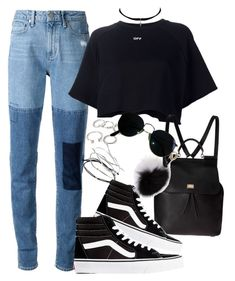 """Untitled #521"" by chandele ❤ liked on Polyvore featuring Forever 21, Paige Denim, Off-White, Yves Saint Laurent, Dolce&Gabbana, Vans, Adrienne Landau, Topshop, Ray-Ban and vans"