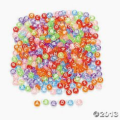 Transparent Alphabet Beads - Spell out your name or a phrase for a colorful and fun craft! per unit) Science Table, Alphabet Beads, Sensory Boxes, Silly Putty, Street Painting, Shadow Play, Table Accessories, Oriental Trading, Light Table