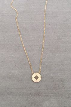 "Dainty Compass ""I would be lost without you"" necklaces. I think this would be so cute for a bridesmaids gift!:"