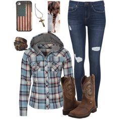Let me show you how country feels! Fun fall/winter look!