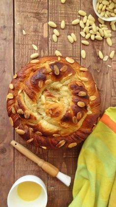 Almond and vanilla twisted bread wreath/coffee cake