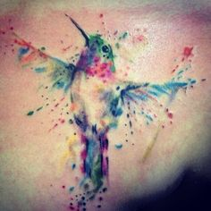this may have to be one of my next ones...watercolor: check and a in memory humming bird : check! all in one!